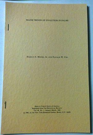 Major Trends of Evolution in Palms - Catalog No. M1