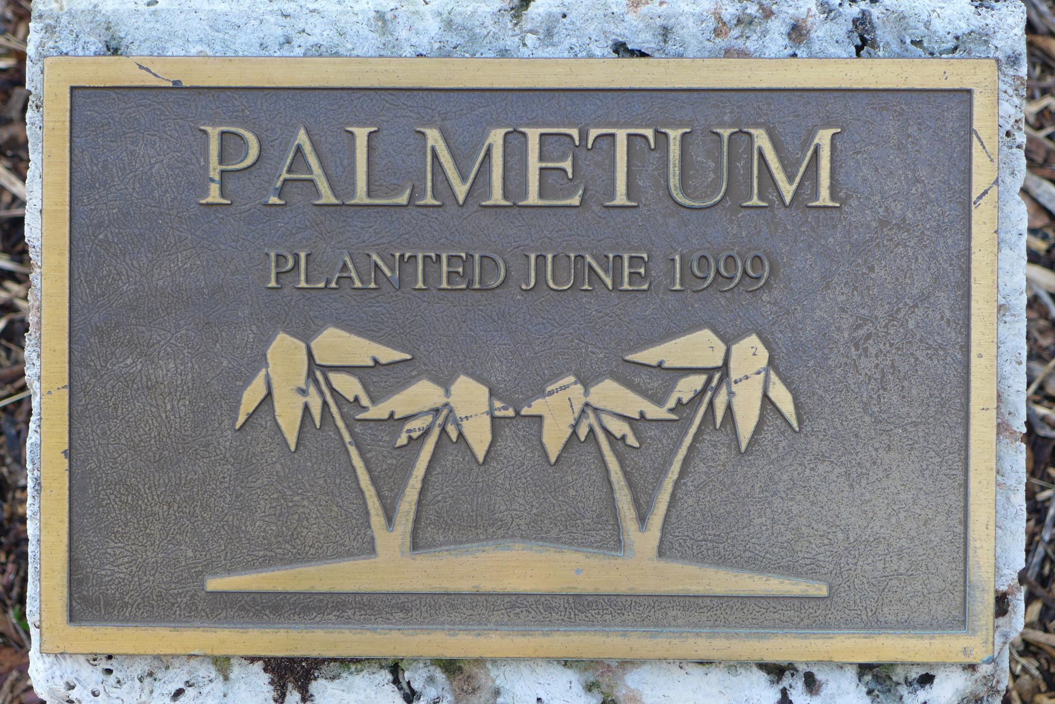 UM Palmetum Plaque